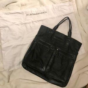 BCBGMAXAZRIA large black tote bag